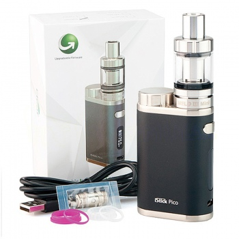 IStick PICO 75W TC negru - FULL KIT
