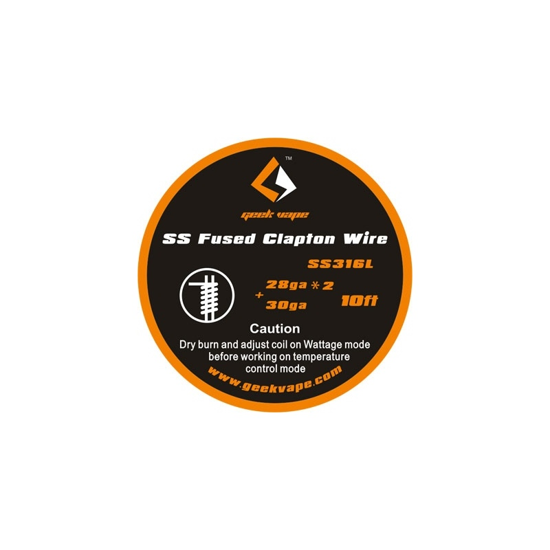 Geekvape Fused Clapton SS316  28gaX2+30ga