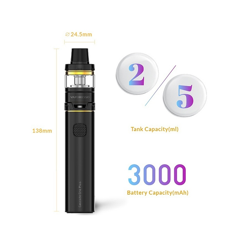 Kit Tigara electronica CASCADE ONE PLUS Vaporesso negru