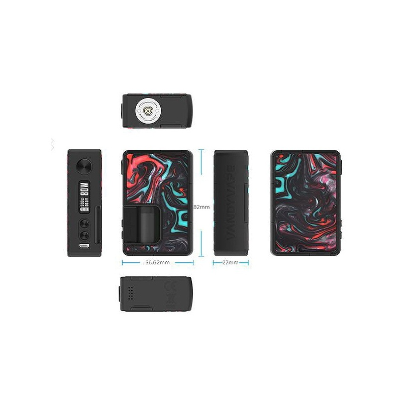 Mod PULSE BF SQUONK 80W VandyVape Lava Red