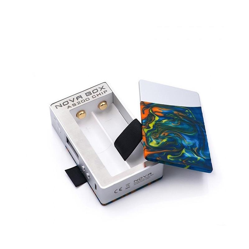 Mod Nova Geekvape 200W TC silver flare resin